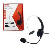 Fone Headset para Telefone Fixo Telemarketing Tomate MT-1011 -