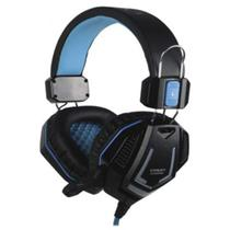 Fone Headset Satellite Com Microfone AE-328B Gaming - Azul -