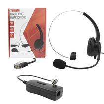 Fone Headset Telefone Fixo Fio atendimento RJ9 port microfone - Tomate