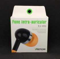 Fone intra-auricular EJ-V01 - Verde