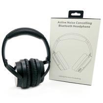 Fone Noise Cancelling ANC Bluetooth Dobrável com Microfone P2 Auxiliar Cancelamento de Ruído Ativo Exbom AR8BT Headphone -