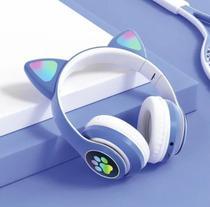 Fone Orelha De Gato Headphone Gatinho Com Led Fone Bluetooth Anúncio com variação - Exbom