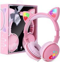 Fone Orelha De Gato Headphone Gatinho Com Led Fone Bluetooth - CAT EAR