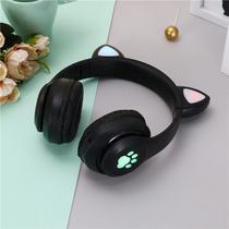 Fone Orelha De Gato Headphone Gatinho Com Led Fone Bluetooth Dobrável - Cat Ear