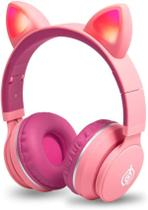 Fone Orelha De Gato Headphone Gatinho Com Led Fone Bluetooth Dobrável - Exbom /Altomex/Hmaston