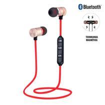 Fone Ouvido Bluetooth RED Com Microfone Kp445 KNUP -
