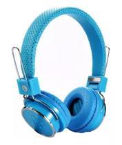 Fone Ouvido Bluetooth Sem Fio Chamada Micro Sd Fm Mp3 B05  Azul claro - Importação
