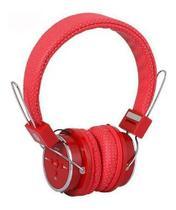 Fone Ouvido Bluetooth Sem Fio headset Chamada Micro Sd Fm P2 Mp3 Vermelho - B05 Headset