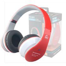 Fone Ouvido Favix B01 Headset Sem Fio FM Sd Card Vermelho Bluetooth -