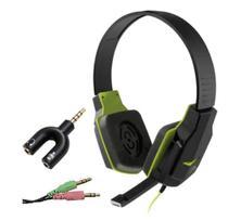 Fone ouvido Game microfone retrátil duplo P2 para vídeo chamada notebook PC computador e adaptador - Multilaser