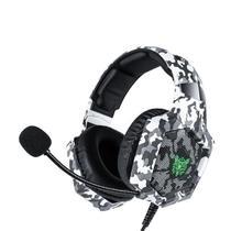 Fone Ouvido Gamer Headset Led Onikuma K8 Rgb Jogos Xbox Ps4 Camuflado Branco -