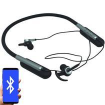 Fone Ouvido Headphone Bluetooth Sem Fio Esporte Flexível Estéreo Vibra Infokit HBT-82 Preto Cinza -