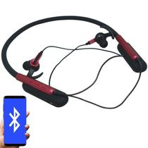 Fone Ouvido Headphone Bluetooth Sem Fio Esporte Flexível Estéreo Vibra Infokit HBT-82 Preto Vermelho -