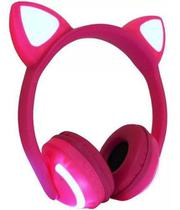 Fone Ouvido Headphone Orelha Gato Bluetooth Infantil P2 Led - AltomexExbomXls