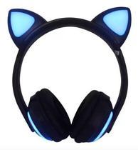 Fone Ouvido Headphone Orelha Gato Bluetooth Infantil P2 Led - Exbom