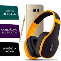 Fone Ouvido Headphone Pulse Bluetooth P/ Samsung Galaxy Note Amarelo - Multilaser