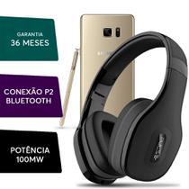 Fone Ouvido Headphone Pulse Bluetooth P/ Samsung Galaxy Note Preto - Multilaser