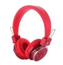 Fone Ouvido Headphone Sem Fio Bluetooth Micro Sd Fm P2 B-05 VERMELHO - Box Sete