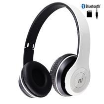 Fone Ouvido Headset Bluetooth Sd Fm Essence Hs117 Branco - Newlink