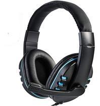 Fone Ouvido Headset Gamer C/ Microfone Lehmox Lef1020- Azul - Geral