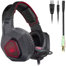 Fone Ouvido Headset Gamer Microfone Jogo Online. - Knnup