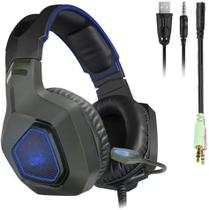 Fone Ouvido Headset Gamer P3 Stereo Cabo Microfone Pc Note - Knnup