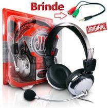 Fone Ouvido Headset Headphone Com Microfone Gamer Pc Desktop Notebook Adaptador P2 Celular Iphone Android Ps4 Universal - Leffa Shop