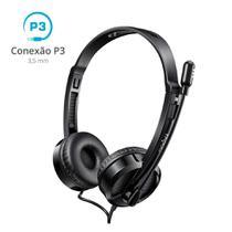 Fone Ouvido Headset P3 com Microfone Rapoo Preto H100 -