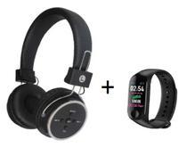 Fone Ouvido Sem Fio Bluetooth 4.1 Celular Micro Sd Fm P2 Fon + brinde Pulseira Inteligente Monitor - Wireless B-05
