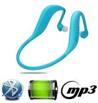 Fone Ouvido Sem Fio Sport Bluetooth Mp3 Fm Novo Design Lc702 Azul - Boas