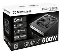 Fonte 500w, Thermaltake, Smart Series, 80 Plus White, PS-SPD-0500NPCWBZ-W -