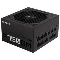 Fonte 750W Gigabyte P750GM - Eficiência 90% - 80 PLUS Ouro - Totalmente Modular - GP-P750GM -