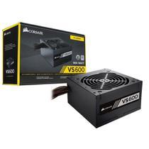Fonte 80 Plus White Corsair CP-9020119-LA VS600 ATX 600W PFC -