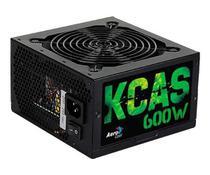 Fonte AeroCool KCAS 600W Bronze Full Range 80 Plus, EN53374 -