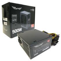 Fonte Alimentação Atx Tronos 500W Real TRS/5330-B 24-pinos C/cabo+caixa -