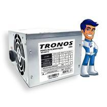 Fonte ATX 230w Real 24 Pinos Sata Bivolt Trs-230v1.2 Tronos -