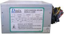 Fonte atx 250w s/ cabo forca c/ caixa dmix -