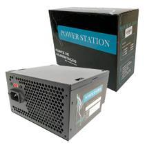 Fonte atx 500w ps-500w power station -
