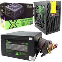 Fonte Atx 500w Real Gamer Tipo Corsair Top Pcie Barato - Dmix