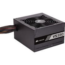 Fonte atx 550w 80plus white vs550 com cabo de força - cp-9020171-br - corsair -