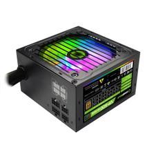 Fonte Atx 600w Reais Gamer Rgb Selo 80 Plus Bronze Semi Modular - Gamemax