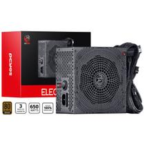 Fonte Atx 650w Real Electro V2 Series 80 Plus Bronze - ELECV2PTO650W - Pcyes