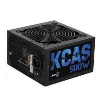 Fonte ATX KCAS 500W 80 Plus Bronze PFC Ativo AEROCOOL -