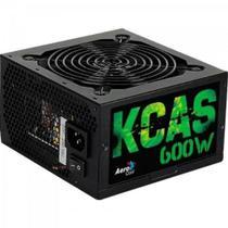 Fonte ATX KCAS 600W 80 Plus Bronze PFC Ativo AEROCOOL -