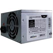 Fonte ATX Nominal Brazil PC 230W Bivolt Chaveada 20+4 Pinos 2 SATA 2 IDE Sem Cabo - BPC230V1.2 -