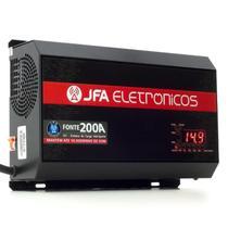 Fonte Automotiva Digital JFA New F200A Sci- 14.4 V - Bivolt, Voltímetro Digital e Indicador de Carga -