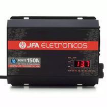 Fonte Automotiva JFA 150A 7000W SCI Carregador Bateria Bivolt Automático LED Amperímetro -