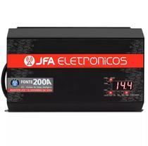 Fonte Automotiva JFA 200A 10000W SCI Carregador Bateria Bivolt Automático LED Voltímetro Amperímetro -