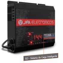 Fonte Automotiva JFA 36A 1800W SCI Carregador Bateria Bivolt Display LED Voltímetro Amperímetro -