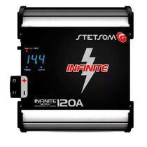 Fonte Automotiva Stetsom Infinite 120 Ampers Carregador Digital Com Voltimetro -